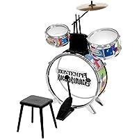 Bontempi JD 4530 Metallic Silver Drum Set with Stool (4-Piece)
