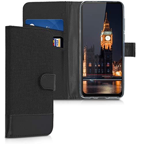 kwmobile Motorola One Vision Hülle - Kunstleder Wallet Case für Motorola One Vision mit Kartenfächern und Stand -
