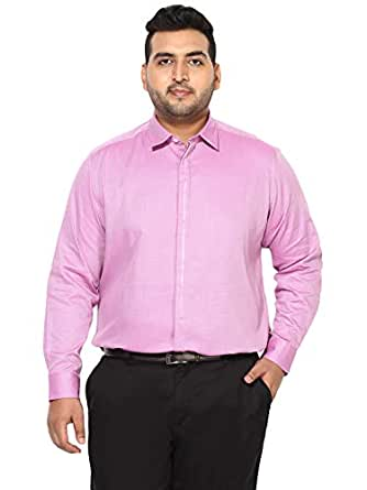 All Men's Solid Regular Fit Casual Shirt (1000741423001_Purple_1)