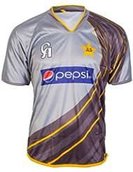 Oficial Equipo De Pakistán Cricket formación réplica de manga corta para hombre 2013S