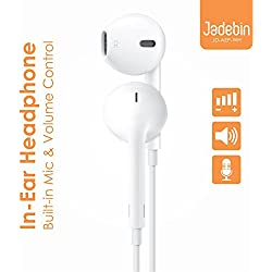 Jadebin Handsfree Headphones For iOs And Android Phones With 3.5mm Jack-White