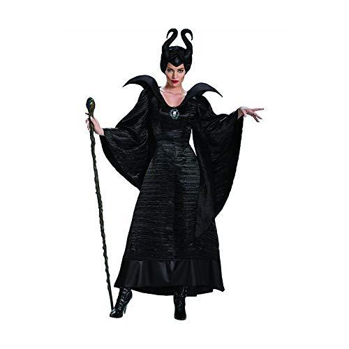 COOGG Film Maleficent Kostüm Halloween Karneval Kostüm Plus Size XS-3XL (Für 2019 Paare Halloween-kostüme)