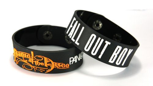 PANIC! AT THE DISCO, motivo: FALL OUT, BOY 2 (2x) Bracciale, DIFO Mix