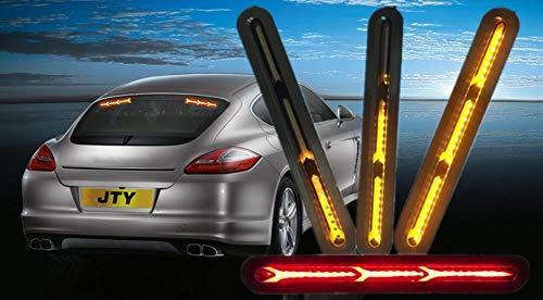 FEZZ 2PCS Indicatori di direzione Auto LED Luci Diurne Terzo Stop Fari Posteriori Universali, Ambra Rosso