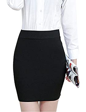Mujeres Elástico De Cintura Alta Falda Corta Tallas Grandes Faldas Ajustadas