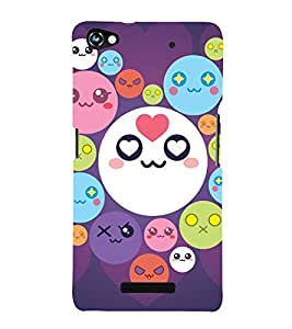 printtech Smiley Circle Memes Back Case Cover for Micromax Canvas Hue 2 A316