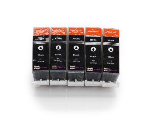 5 Druckerpatronen kompatibel für CANON PGI-525 mit CHIP und Füllstandsanzeige | für Canon Pixma IP4850 IP4950 IX6550 MG5150 MG5250 MG5350 MG6150 MG6250 MG8150 MX885 MX715 MX895