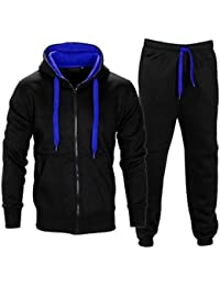 5237e16196a6 Made By PURL® New Mens Tracksuit Set Fleece Hoodie Top Bottoms Jogging  Joggers Gym CONTRAST CORD Full Zip Tracksuits Sweat Sports…
