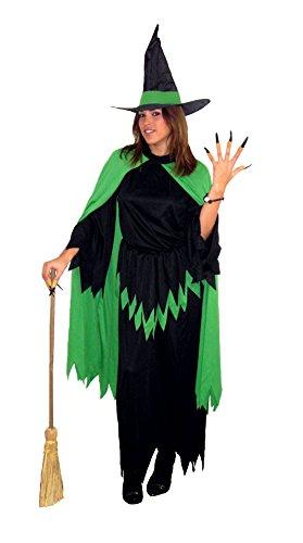 Imagen de el carnaval disfraz bruja verde adulto