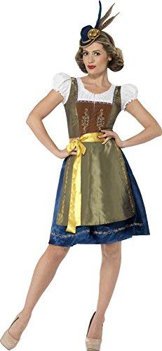 Smiffy's 44446M - Traditionelle Deluxe Heidi bayerischen Kostüm mit Dress und (Bayerische Lady Kostüme)