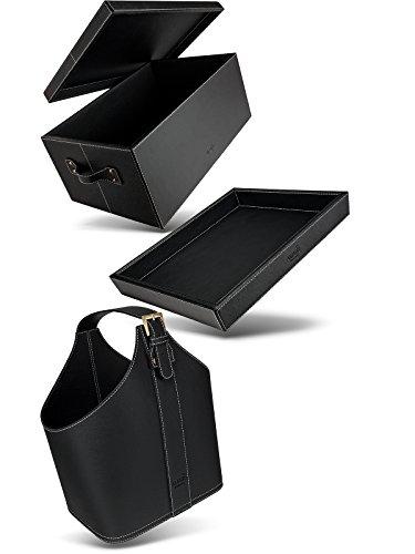 Amaris Elements Set Plateau + Panier + Box I Plateau Pura 41x34x5 pouces rectangle I Panier avec Poignée Pierre 30x22x37 pouces ovale I Box avec couvercle 45x30x20 pouces rectangle