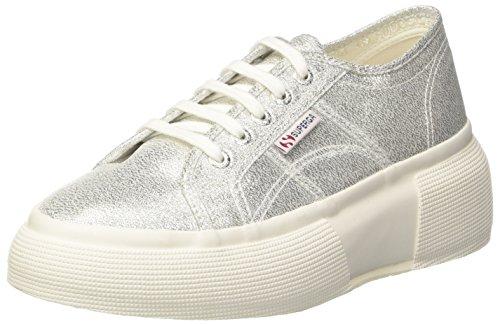 SUPERGA 2287-LAMEW, Sneaker Donna, Argento (Grey Silver 031), 36 EU