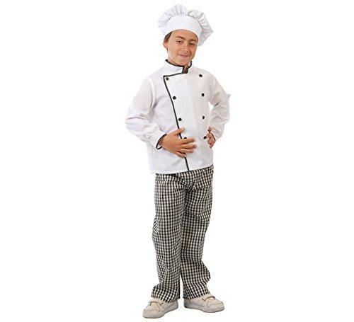 Koch - Kostüm für Kinder Gr. 110 - 146, Größe:110/116