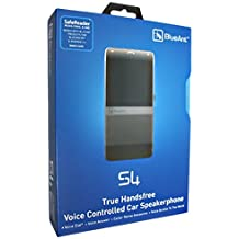 BlueAnt S4 True Handsfree Voice Controlled Car Kit Car Speakerphone with wireless Stereo Streaming A2DP for iPhone 3G 3GS 4.0 and Android [BlueAnt Retail Packaging]