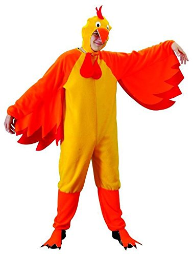 Foxxeo Hühnerkostüm Erwachsene gelb Huhn Hahn für Herren Damen Herrenkostüm M - XXL Größe XL