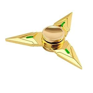 Gold Fidget Spinner Prime Shuriken SpinnerOmikyR Hand Metal Tri EDC Groy