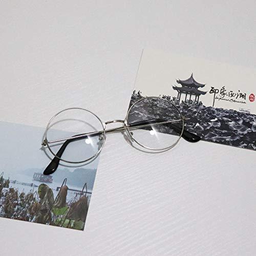 Kinder runde Brille Metall kleine runde Sonnenbrille Baby süße Junge süße kleine Brille Sonnenbrille Flut weibliche runde Brille Goldrahmen schwarzer Film (1-4 Jahre alt), runde Brille silberner Rahm