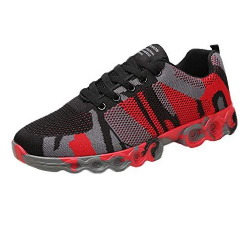 Herren Sneaker,ABsoar Mode Bequem Freizeitschuhe Flache Plattform Laufschuh Rutschfester Wanderschuhe Atmungsaktive Joggingschuhe Tennisschuhe Für Männer Licht Sneaker