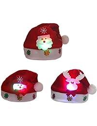 345e511c0f5b Ymysfit 1 3 Chapeau avec Lumière Forme Cerf Père Noel Bonhomme de Neige  pour Adulte