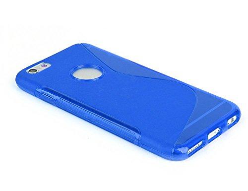 Bleu S Line Wave Coque arrière en gel TPU souple pour Apple iPhone coque 6S