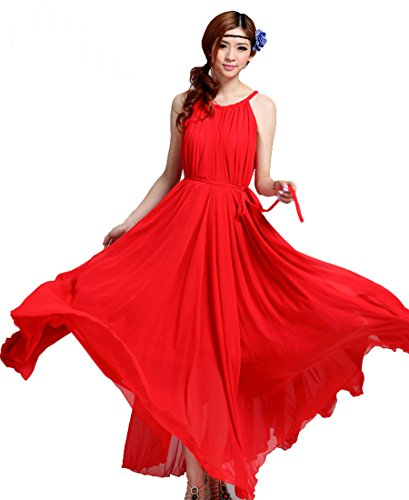 Medeshe - Robe - Trapèze - Sans Manche - Femme red