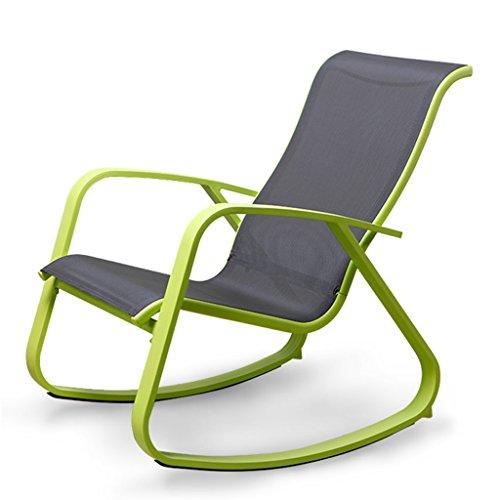 Green Rocking Chair Erwachsenen Rocker Lounge Stuhl Faul Einfacher Casual Sessel Balkon Garten...