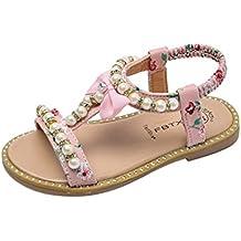 Clearance,Sandali romani per bambine e ragazze bambino-Sandali Casual shoes Bowknot Perla Cristallo romano Principessa ragazza sandali 20-29 On Sale