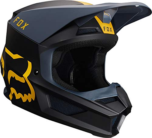 Fox Helmet V-1 Mata Navy/Yellow Xl