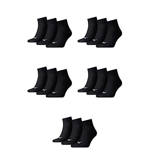 200 Calzini Ladies Puma E Sneaker Quarti Coppia Mens 15 Nero Unisex fq4zA