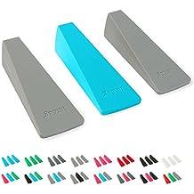 /tope para ventana diseño (Color a elegir). Tope de silicona/plástico. Puerta fija & ventana. KEIL protege azulejos, piedra, Alfombra, madera, plástico, X | Hellgrau/Blau/Hellgrau, M (30x40x105mm)