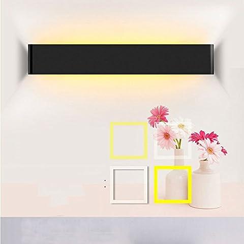 SJMM Moderne 6W/14W/20W/24W LED-Licht im Badezimmer Hängeschrank Spiegel Beleuchtung Einfach zu bedienen Schraubbefestigung Link zu einer externen Taste aus, weiß, 14W, WARM WEISS 41CM(#JD-0895)