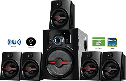 IKALL 5.1 Channel Bluetooth Multimedia Home Theater System(Black)