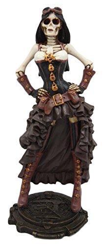 Atlantic Sammlerstücke Steampunk Skelett Kostüm Lady Figur 19,1cm H Skelett Detektiv Inspector Baroness Skulptur