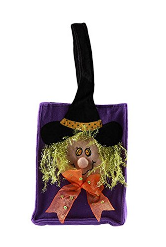 Halloween-Kinder Candy Bag 3D Bunte Hexe-Trick Oder Behandlung Candy Bag