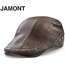 Laurelmartina JAMONT 12982 Primavera Otoño Invierno Masculino Gorra de béisbol Hombres Beret Casual Peaked Cap Grid