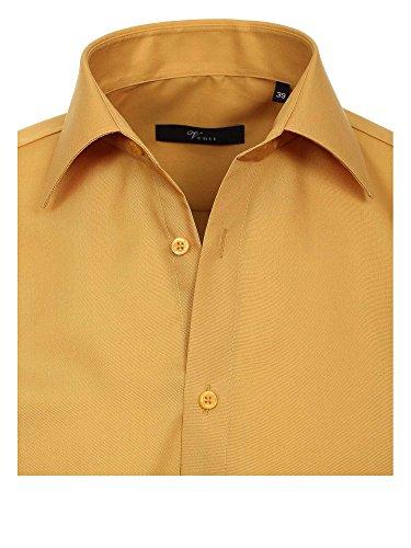 Venti 1480 - Chemise Business - coupe cintrée - Col Chemise Classique - Manches Longues - Homme moutarde