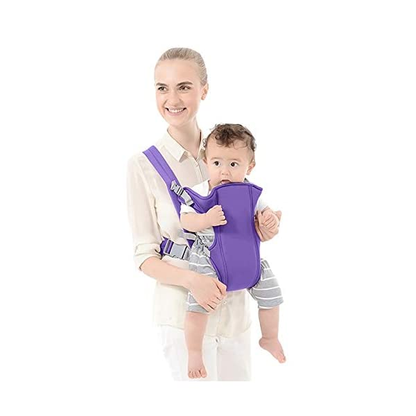 SONARIN 2018 Simple and Lightweight Baby Carrier,Light,Convenient,Breathable,Free Size,Ergonomic,3 Carrying Positions,Safe and Comfortable,Adapted to Your Child's Growing,Ideal Gift(Purple) SONARIN Applicable age and Weight:3-24 months of the baby, the maximum load: 15KG. Recommendations can be based on the growth of the baby's weight to choose the appropriate use method, face-in type: 3 months or more, back type: 6 months or more, face-out type:6 months or more. Material:designers choose comfortable and cool polyester fabric, using 3D breathable mesh, washable, do not fade, no irritation to the baby's skin, to the baby comfortable and safe experience. Description: simple and lightweight design so that the baby carrier is very simple, convenient, light.patented design of the auxiliary spine micro-C structure and leg opening design, natural M-type sitting. Widen the shoulder strap and belt will be effective to disperse the baby's weight to the shoulder and waist, so that mother more effort. 3