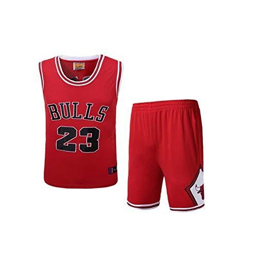 HSAWVE Clothing Basketballtrikot für Herren Trikot NBA Basketball Jersey NBA Paul bestickte Jersey Jordan Basketball Anzug Set atmungsaktives Feuchtigkeits-Shirt Jersey Sommer Trikots-Red-M - Jordan Bestickt Shorts