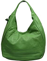 attractive verde bolso de mano de cuero sobre el hombro Tita Verde 2