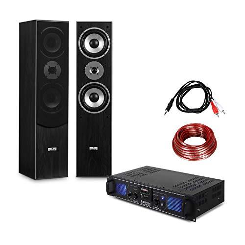 Set equipo sonido estéreo HiFi Amplificador audio