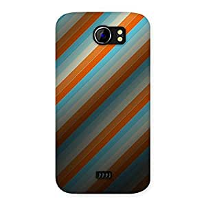 NEO WORLD Happy Stripes Back Case Cover for Micromax Canvas 2 A110