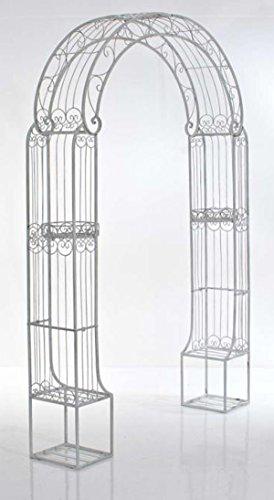 Arche à Rosiers pour jardin en fer blanc antique - 163 x 239.5 x 34 cm - PEGANE -