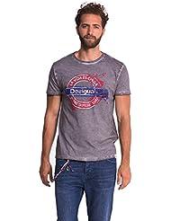 Desigual Luis - T-shirt - Empire - Imprimé - Col ras du cou - Manches courtes - Homme