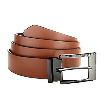 Laurels Men's Brown Leather Belt