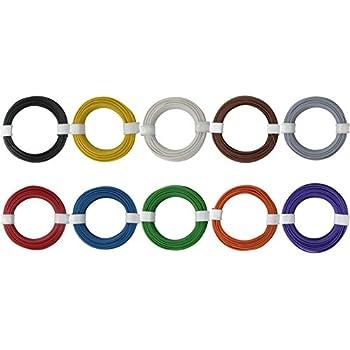 Kupferschalt Litze 10 Ringe alle Farben 0,14 mm² je Farbe ein 10 ...