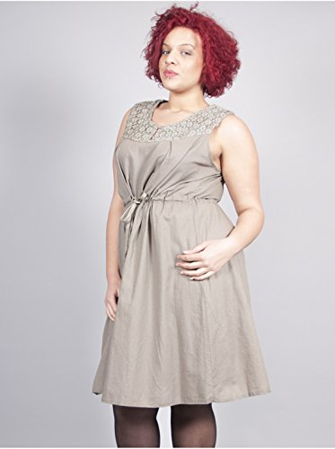 Vêtement Femme Grande Taille Robe Cordon Taupe Taupe