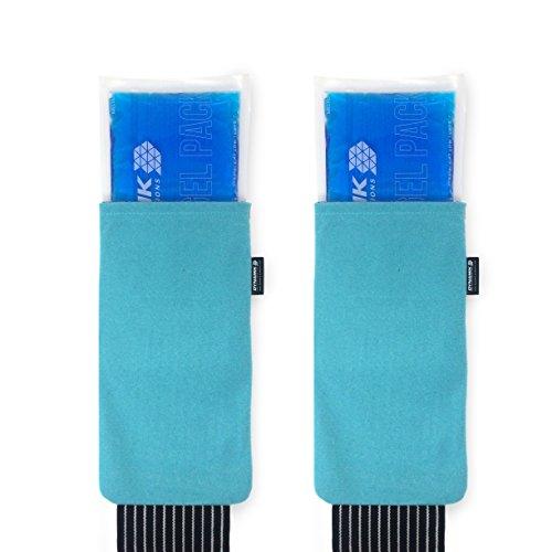 Gelpacksdirect - pack de 2 bolsas de gel reutilizables para aplicar frío y calor - con banda de compresión - para lesiones en espalda, rodilla, hombro y tobillo
