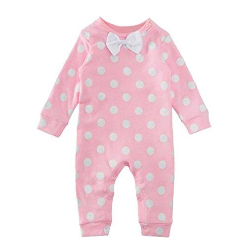 Bekleidung Mädchen Xinan Baby Kids dot Print Kinder Overall Body Bowknot Kleider (18M, (Für Babys Frozen Kleid)
