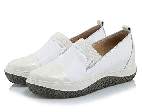 La signora della molla e scarpe autunno strappy scarpe con scarpe basse scarpe da donna aumentati White