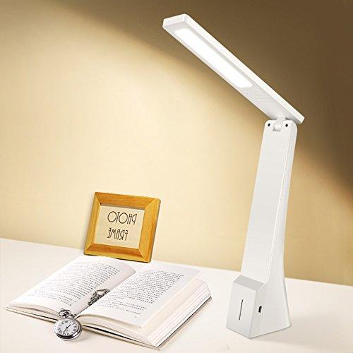 Preisvergleich Produktbild YFF@ILU Drei einstellbare LED Schreibtischleuchte Led Akku Arbeitsleuchte - Pearl White